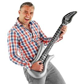 Guitarra Hinchable Plata