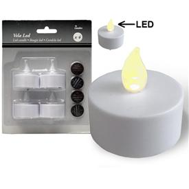 Pack 4 Velitas Luz Led