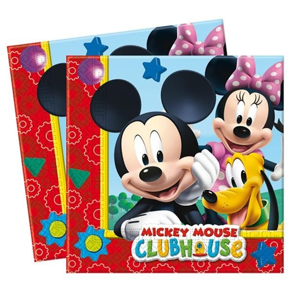 Pack 20 Servilletas Mickey Club House