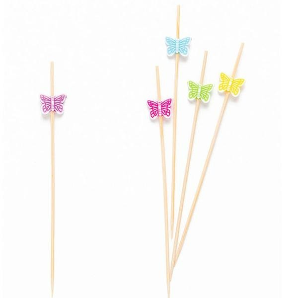 Picks Mariposas de Colores (Pack de 25)