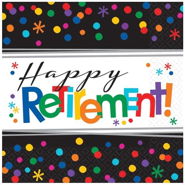 Servilletas Happy Retirement (Pack de 16)