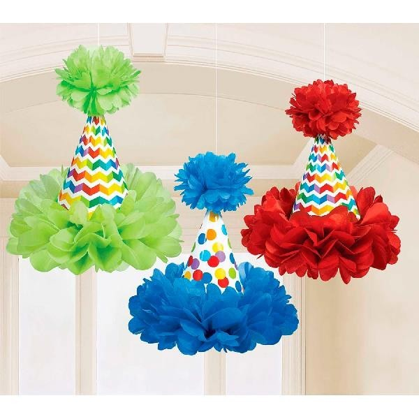 Decoración Gorritos Colgantes Multicolor (Pack de 3)