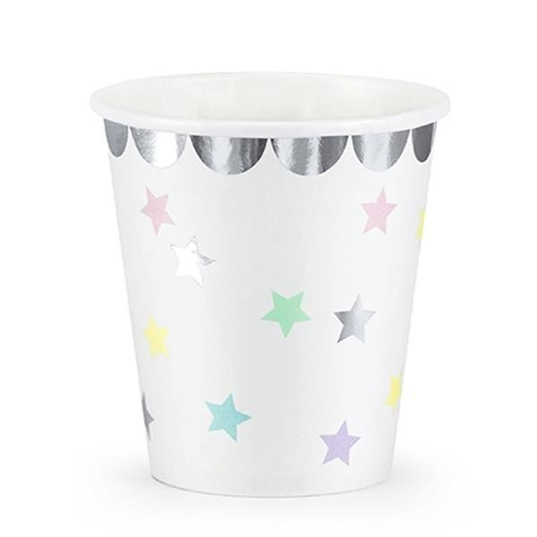 Vasos Unicornio Colores Pastel (Pack de 6)