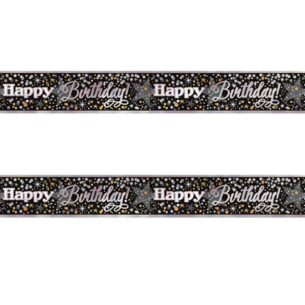 Banner Golden Happy Birthday