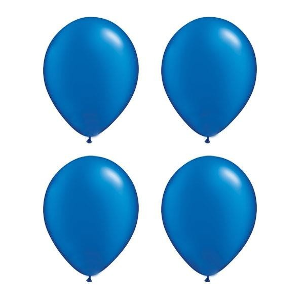 Globos Azul Royal Perla Qualatex (Pack de 25)