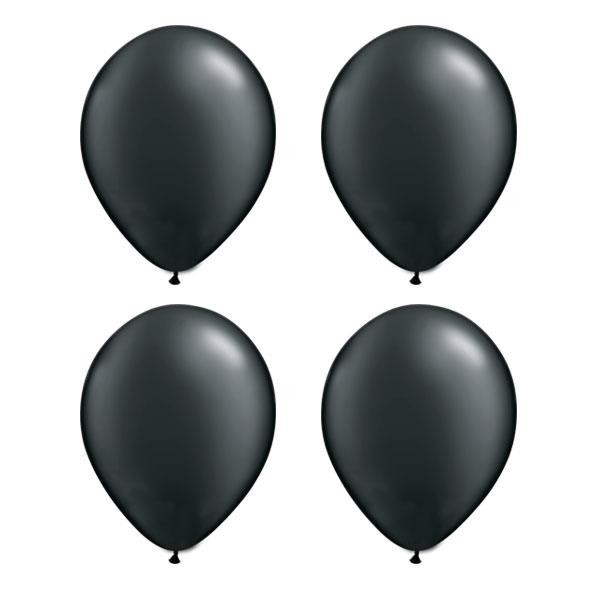 Globos Negro Perla Qualatex (Pack de 25)