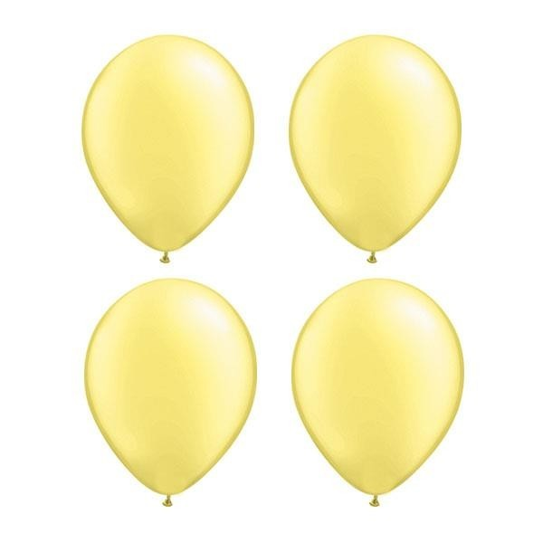 Globos Amarillo Perla Qualatex (Pack de 25)