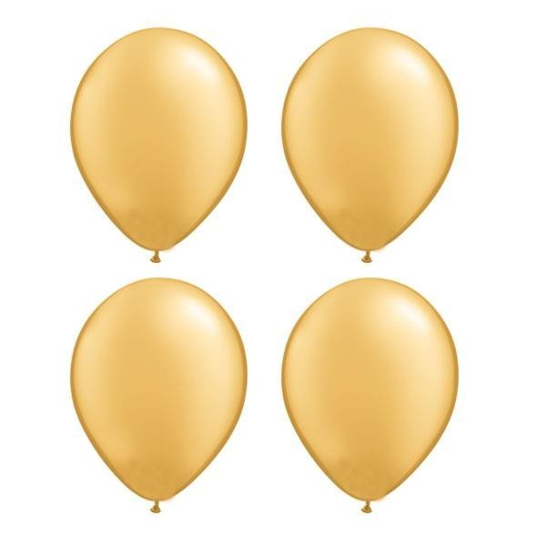 Globos Oro Metalizado Qualatex (Pack de 25)