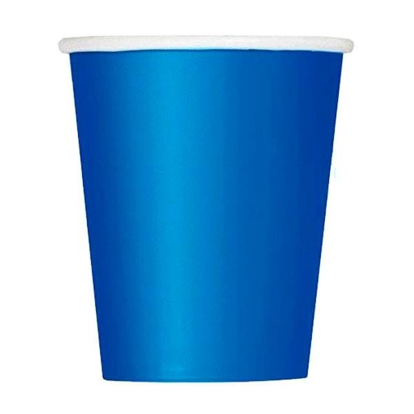 Vasos Azul Royal Papel (Pack de 8)