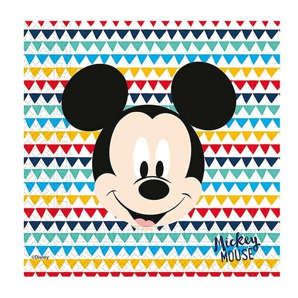 Servilletas Mickey Mouse Deluxe (Pack de 20)