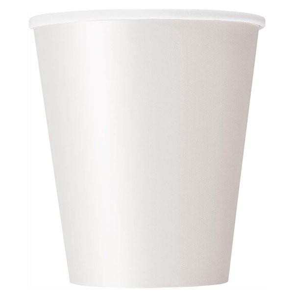 Vasos Blanco Papel (Pack de 8)