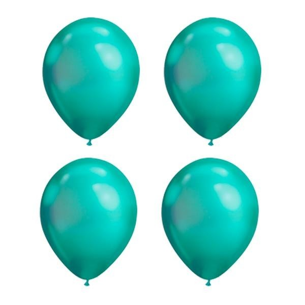 Globos Verde Chrome Qualatex (Pack de 25)