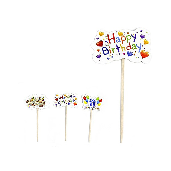 Picks Happy Birthday Pack de 20 (Surtidos)