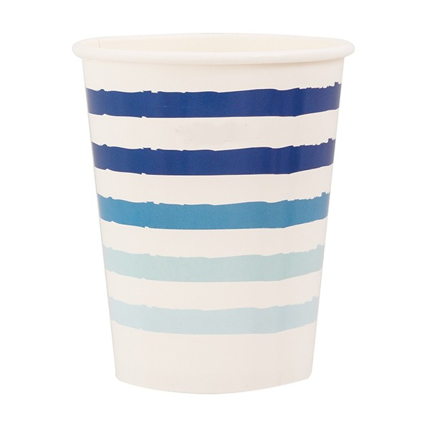 Vasos Papel Azul On The Blue (Pack de 8)
