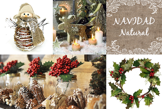 DECORACIONES NAVIDEÑAS: EL ESTILO NATURAL