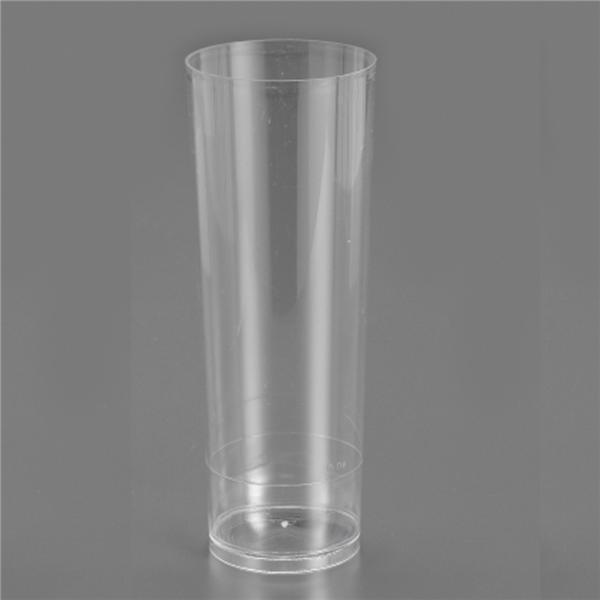 Pack 6 vasos tubo desechables for Vasos de colores de cristal