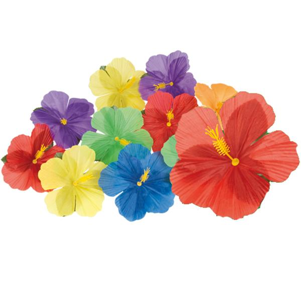 Decoración Flores Hawaii (Pack de 24)