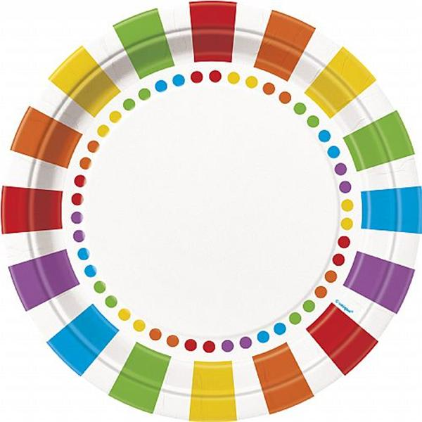 Platos Grandes Multicolor (Pack de 8)