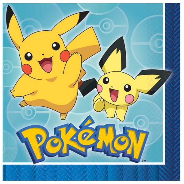 Servilletas Pokemon (Pack de 16)