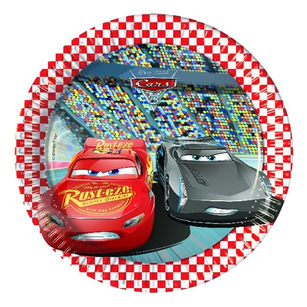 Platos Cars 3 (Pack de 8)
