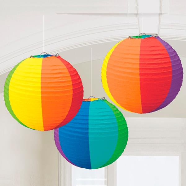 Farol Papel Multicolor (Pack de 3)