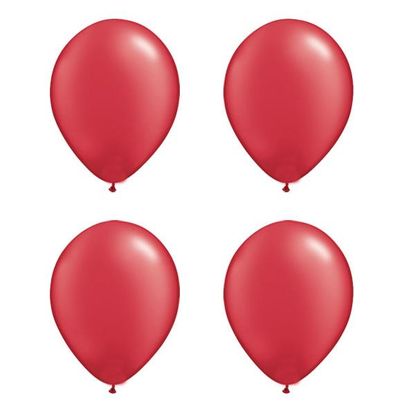 Globos Rojo Perla Qualatex (Pack de 25)