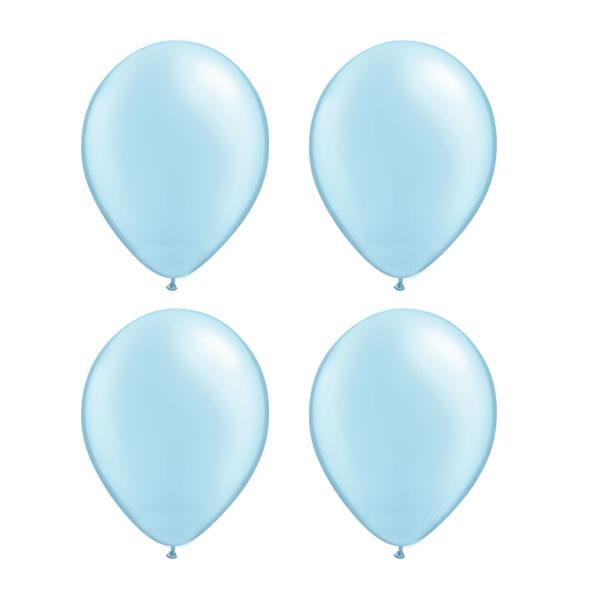 Globos Celeste Perla Qualatex (Pack de 25)