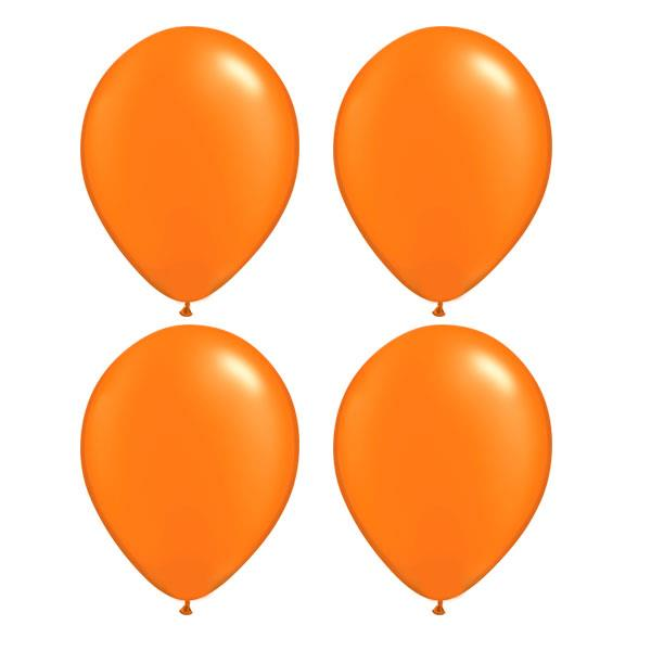 Globos Naranja Perla Qualatex (Pack de 25)