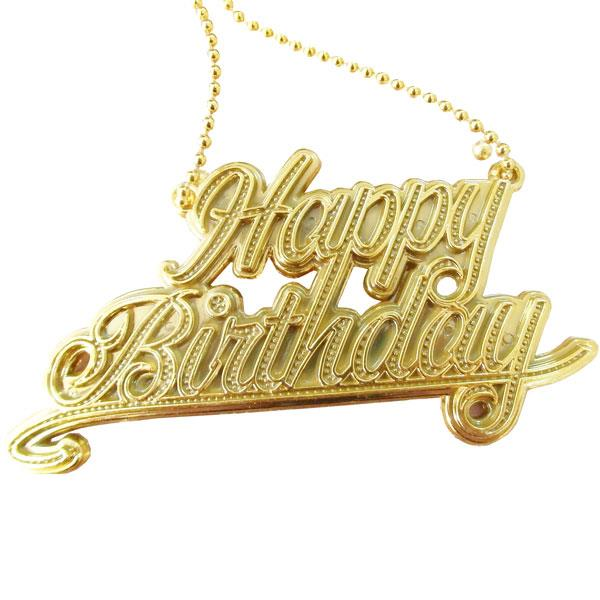 Collar Happy Birthday Oro