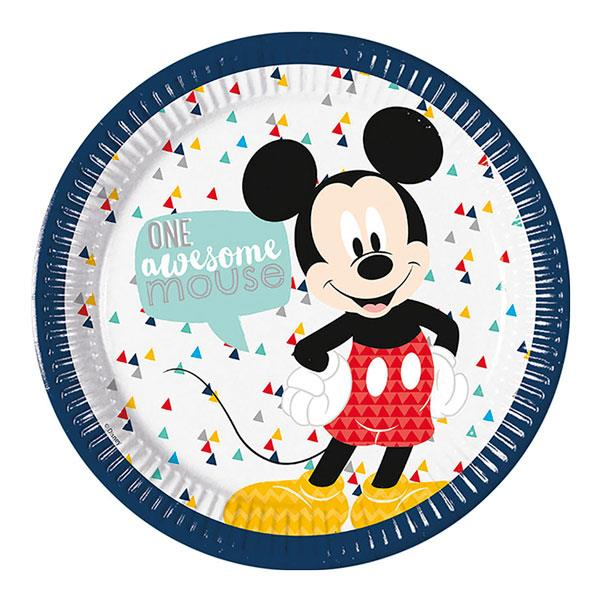Platos Mickey Mouse Deluxe (Pack de 8)