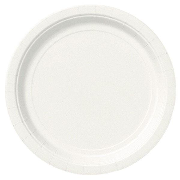 Platos Blanco Papel Grande (Pack de 8)