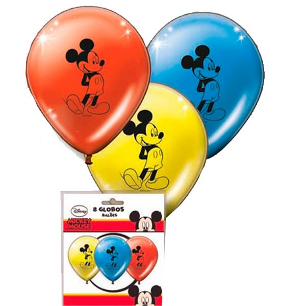 Globos Mickey Mouse Colores (Pack de 8)