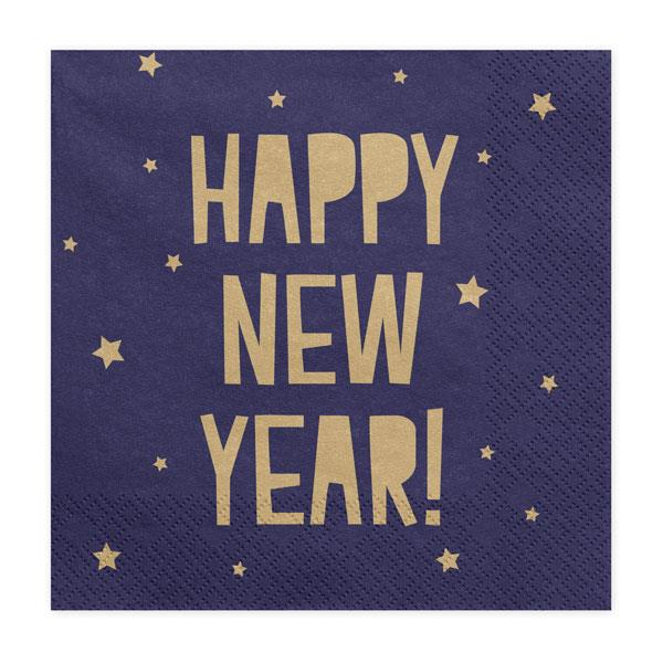 Servilletas New Year Azul (Pack de 20)