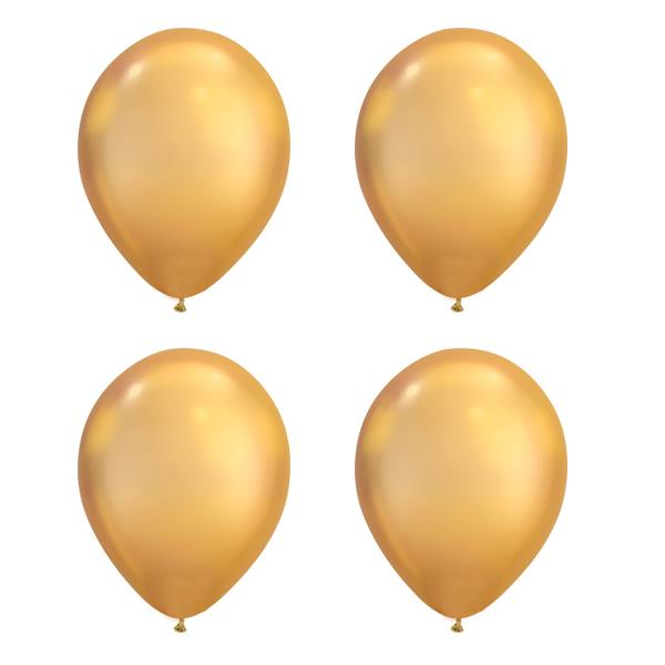 Globos Oro Chrome Qualatex (Pack de 25)