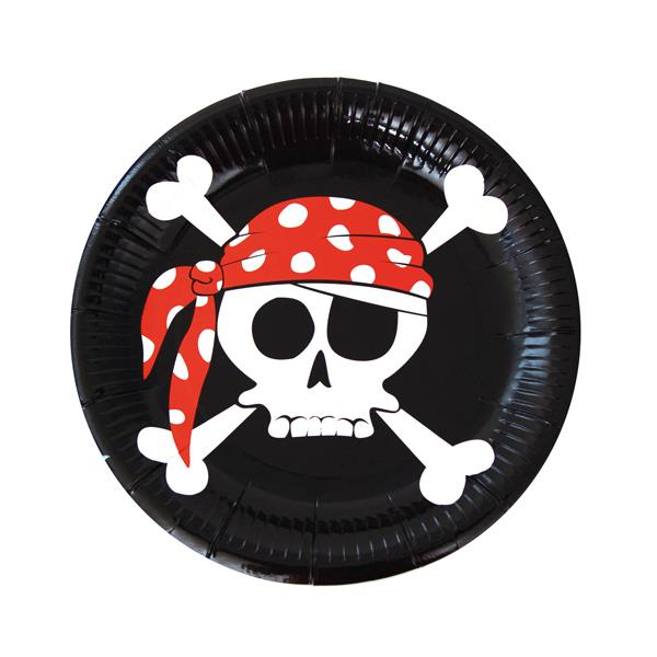 Platos Pirata (Pack de 8)