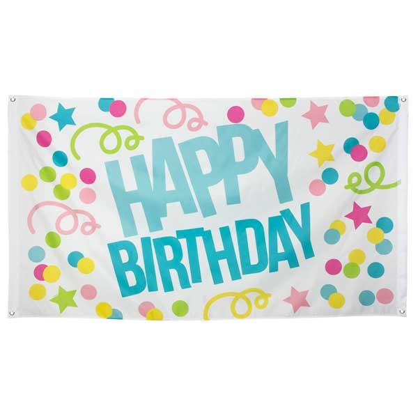 Pancarta Gigante Happy Birthday Tela