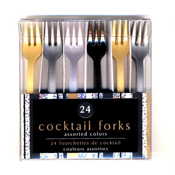 Pack 24 Mini Tenedores Cocktail