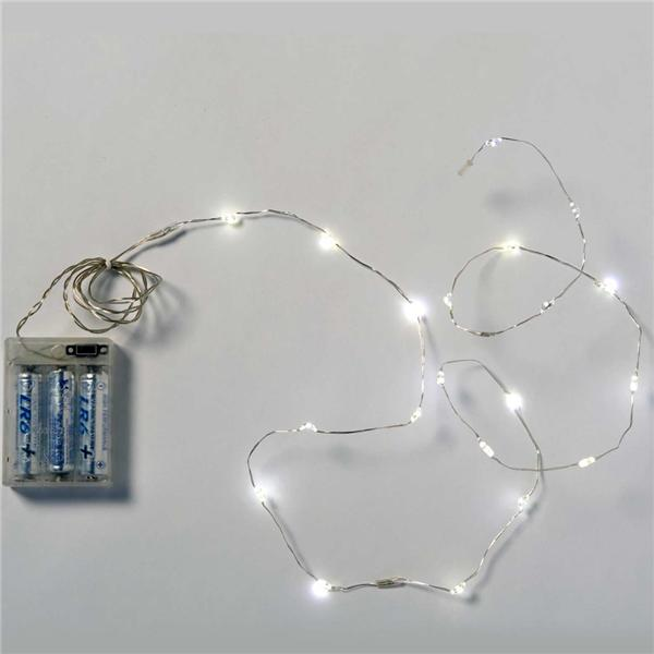 tira de luces a pilas mini leds blanco