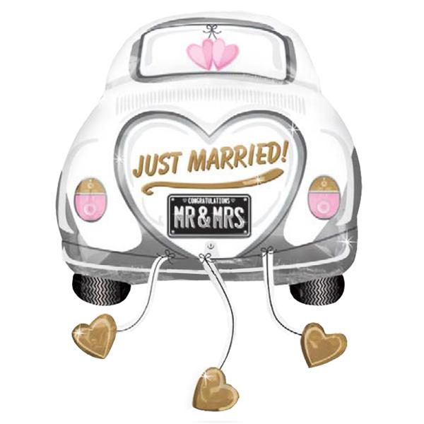 Globo Gigante Coche Just Married