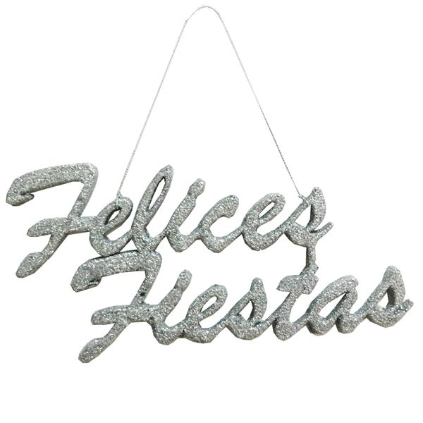 Decoración FELICES FIESTAS Plata