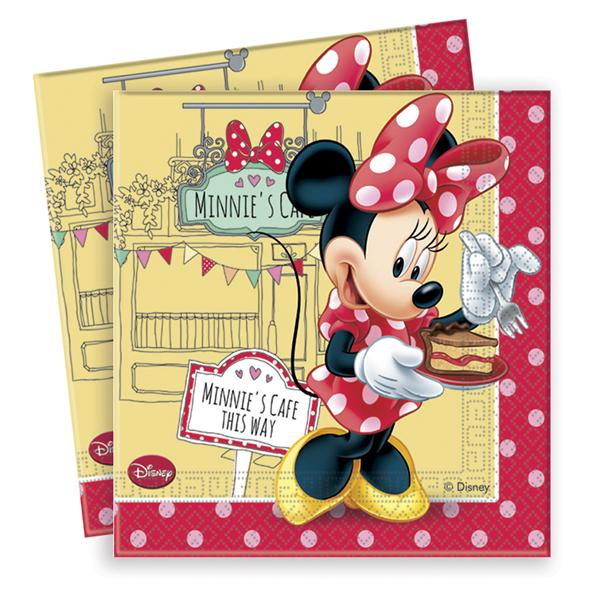 Pack 20 Servilletas Minnie Roja