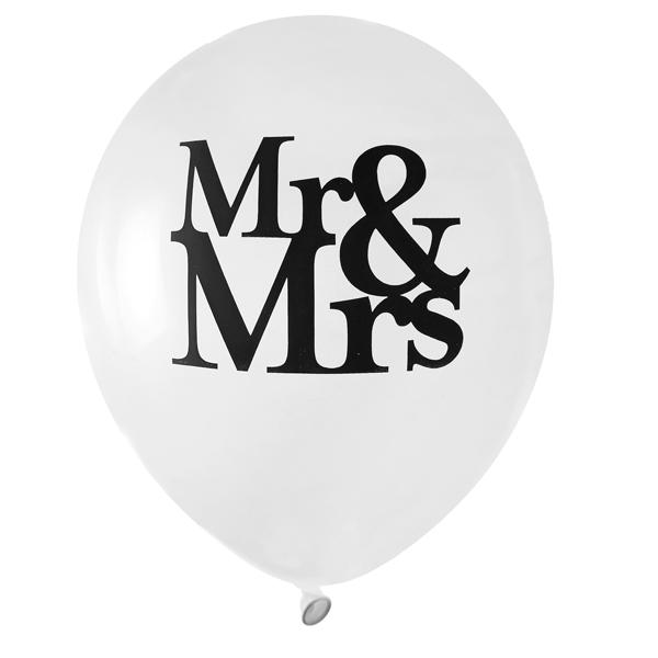 Globos Mr & Mrs (Pack 8)