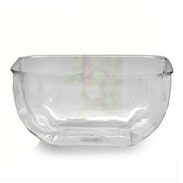 Bowl Cuadrado XL Transparente