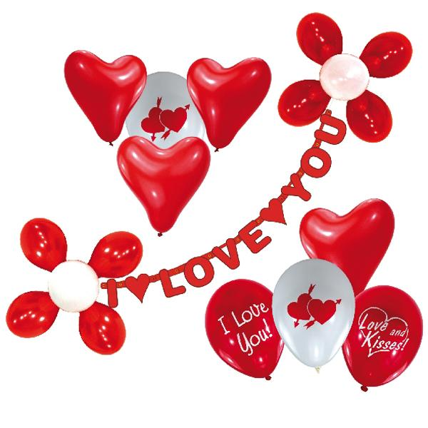 Kit Decoracion Globos I Love You