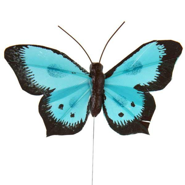 Decoracion Mariposa Azul (Pack de 6)
