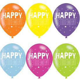 Globos Happy Retirement Multicolor (Pack de 6)