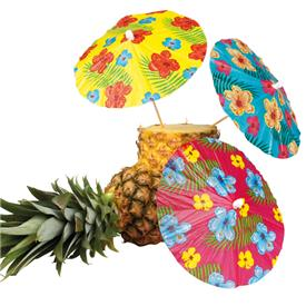 Sombrillas Flores Hawaii XL Pack de 6 (Surtidas )