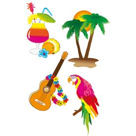 Cutouts Hawaii (Pack de 4)