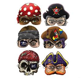Caretas Piratas (Pack de 6)
