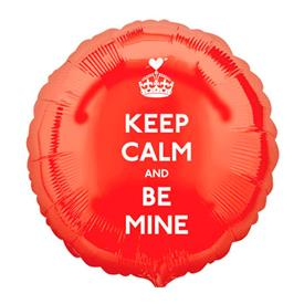 Globo Foil Keep Calm and Be Mine